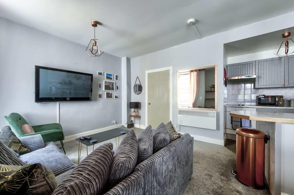 ベーシック アパートメント ダブルベッド 2 台 - リビング ルーム