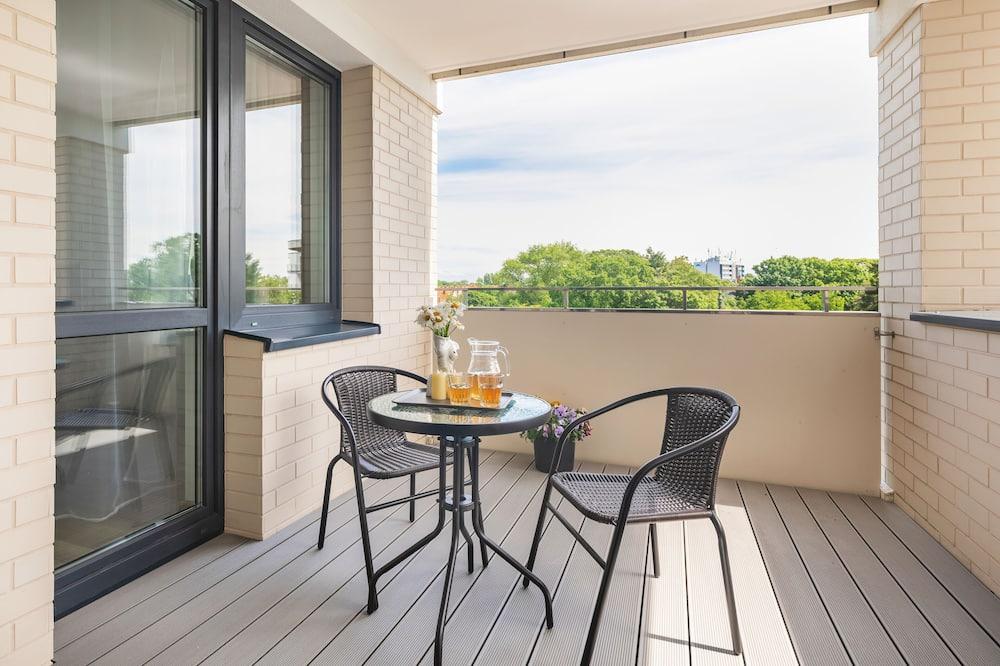 Apartament, 2 sypialnie, taras, widok na rzekę - Balkon