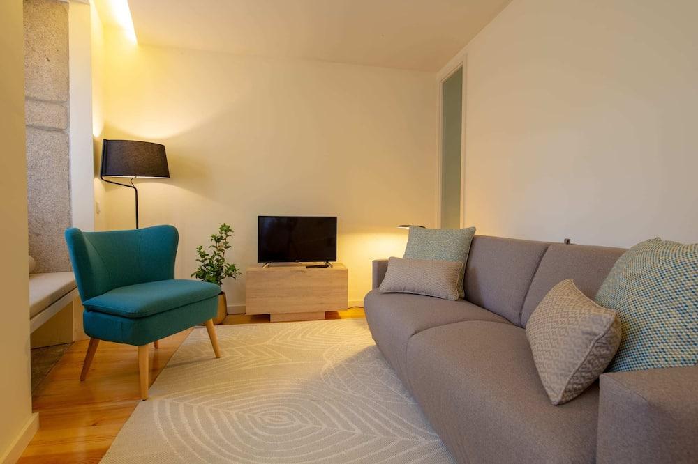 Коттедж базового типа, 1 двуспальная кровать с диваном-кроватью - Гостиная