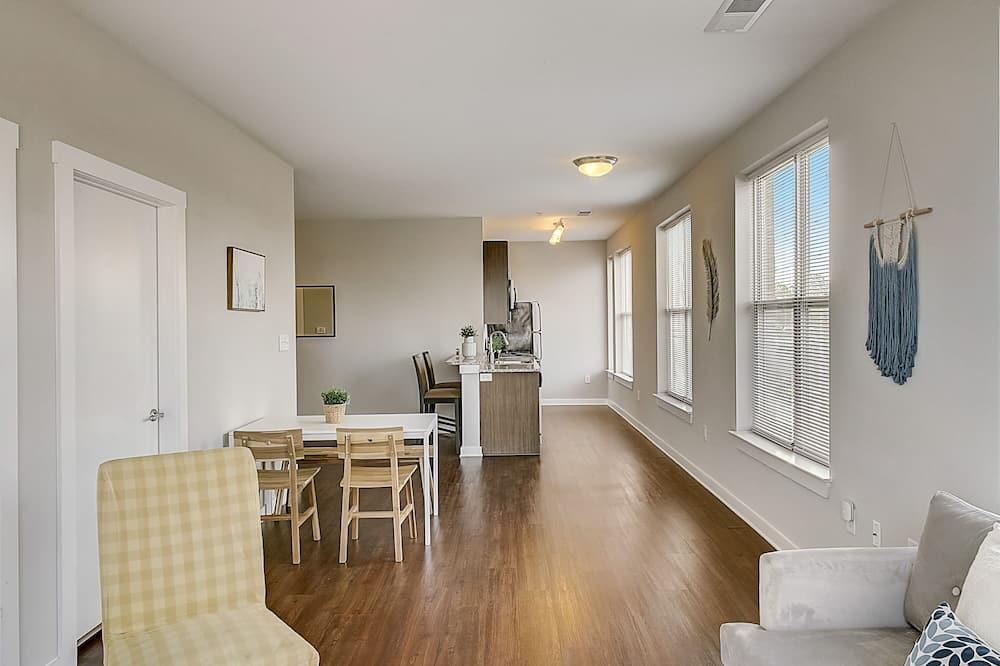 Appartement, keuken, Uitzicht op de stad (1 Bedroom) - Woonruimte