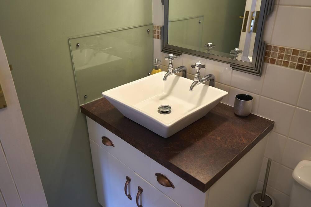 Standarta divvietīgs numurs, vannasistaba numurā, skats uz pagalmu (Room 3 Double) - Vannasistaba