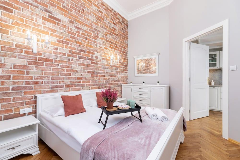 Apartament, 1 sypialnia, kuchnia - Zdjęcie opisywane