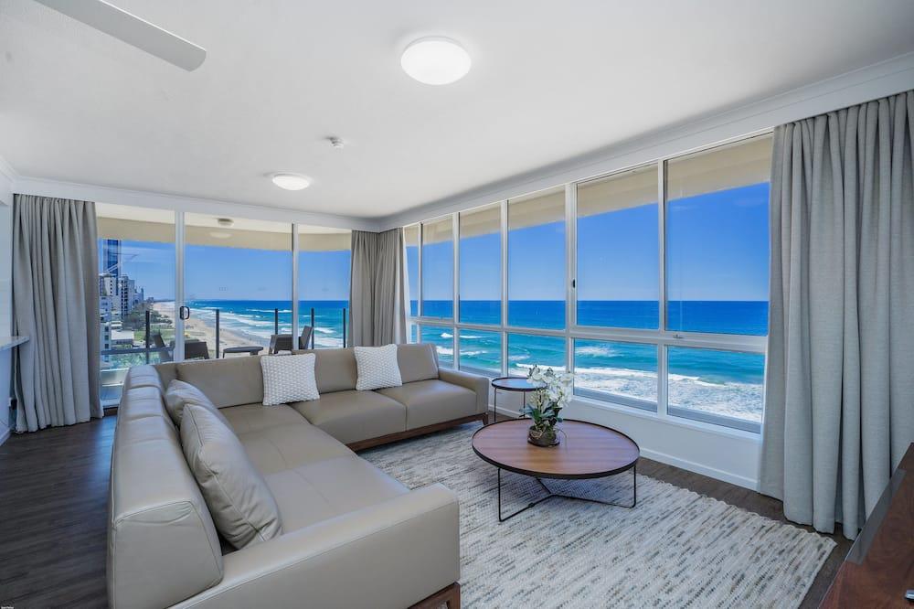 Apartamento Superior, 3 Quartos, Vista Oceano - Área de Estar
