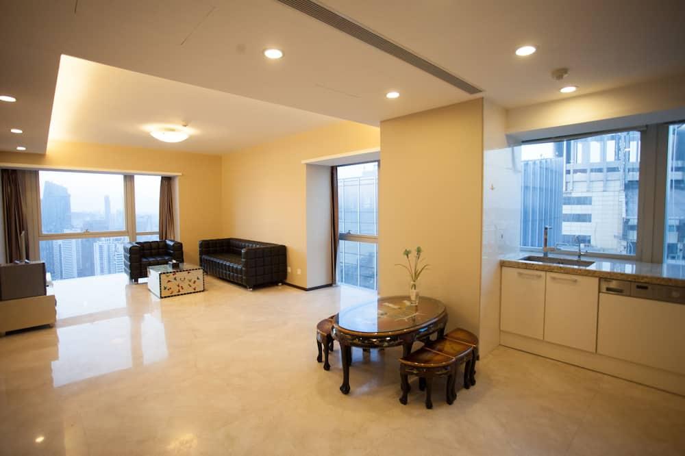 Paaugstināta komforta luksusa numurs, divas guļamistabas, skats uz okeānu - Dzīvojamā zona