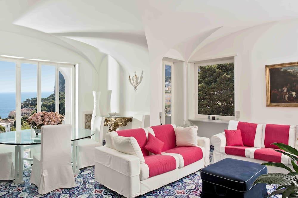 Apartamento superior, 2 habitaciones, balcón - Sala de estar