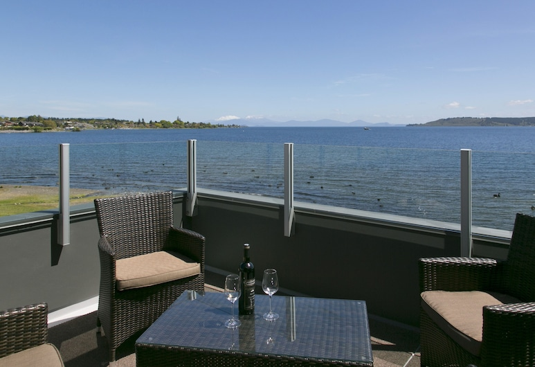 The Cove Taupo, Taupo, Elnöki penthouse, Erkély