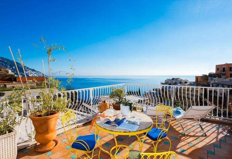 Hotel Villa delle Palme, Positano, Deluxe Double Room, Terrace, Balcony