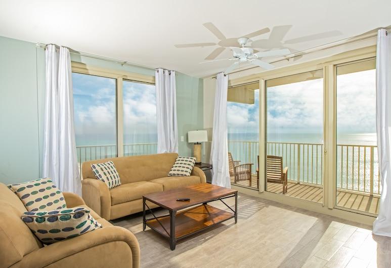 Shores of Panama Beach Resort, Panama City Beach, Premium Suite, 3 Bedrooms, Oceanfront, Living Area