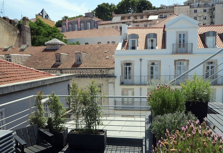 The Lisbonaire Apartments, Lisszabon, Terasz/udvar