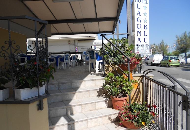 Hotel Laguna Blu, Rimini, Teres/Laman Dalam