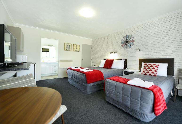 Amber Court Motel, Nelson, Chambre, Coin séjour