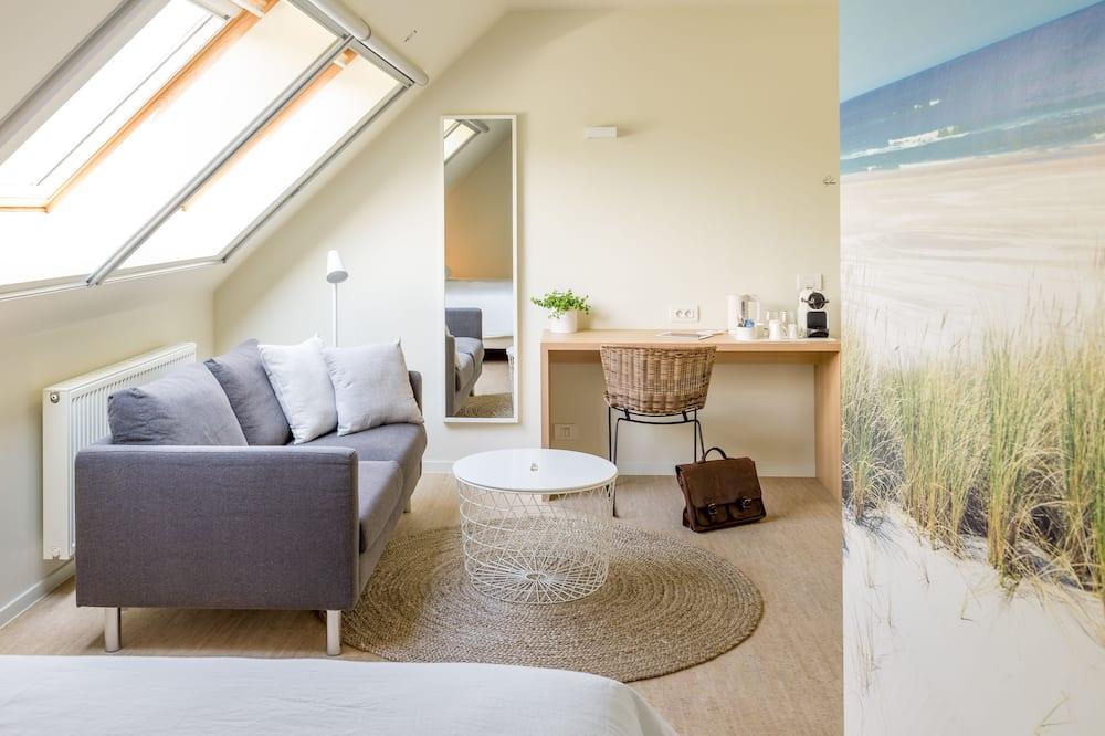 Pokój dwuosobowy z 1 lub 2 łóżkami, widok na ogród - Powierzchnia mieszkalna