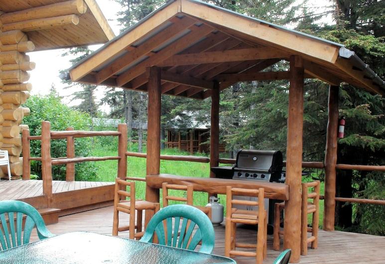 熊掌冒险, 安克波因特, 家庭独立别墅, 1 间卧室, 花园景观, 花园, 露台