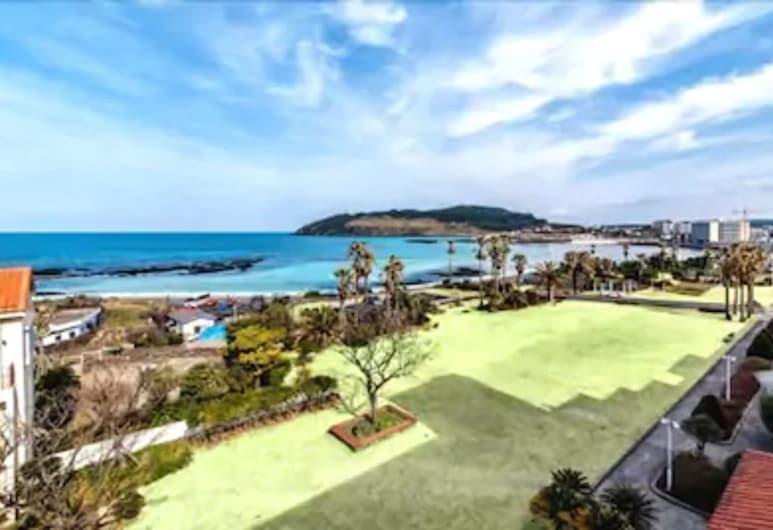 濟州陽光飯店, Jeju City, 套房, 部分海景, 陽台