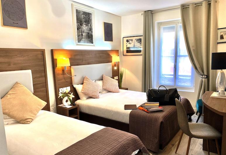 Hôtel Clairefontaine, Paris, Tremannsrom, Gjesterom