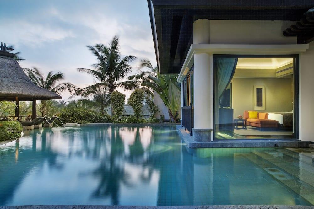 グランド ヴィラ ベッド (複数台) プライベートプール - 部屋からの眺望