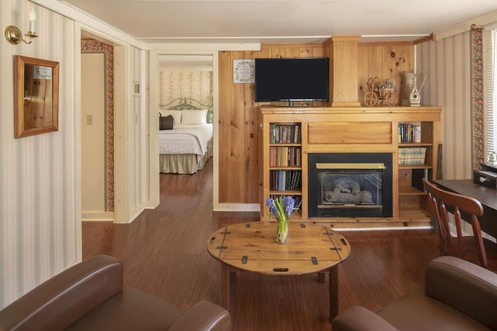 Коттедж, 1 двуспальная кровать «Квин-сайз» - Зона гостиной