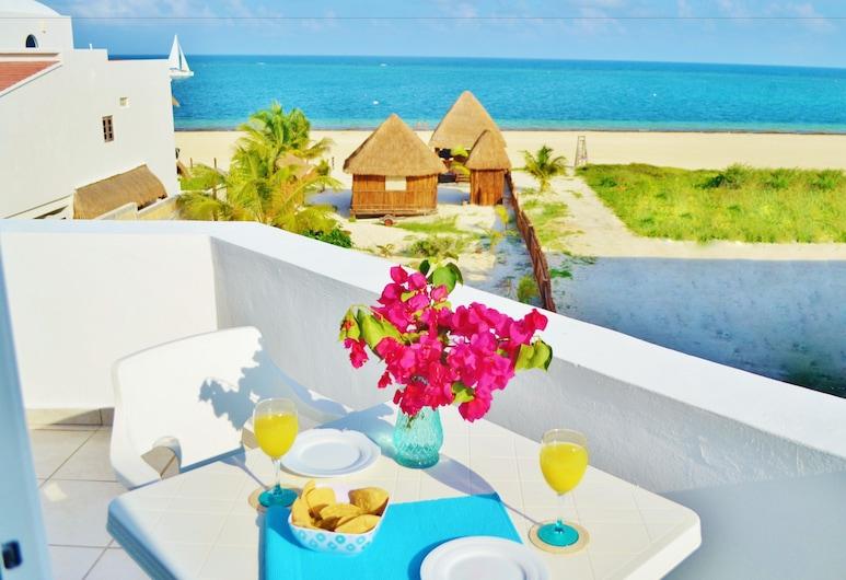Corales Suites, Puerto Morelos, Suite – deluxe, 1 soverom, kjøkken, delvis havutsikt, Balkong