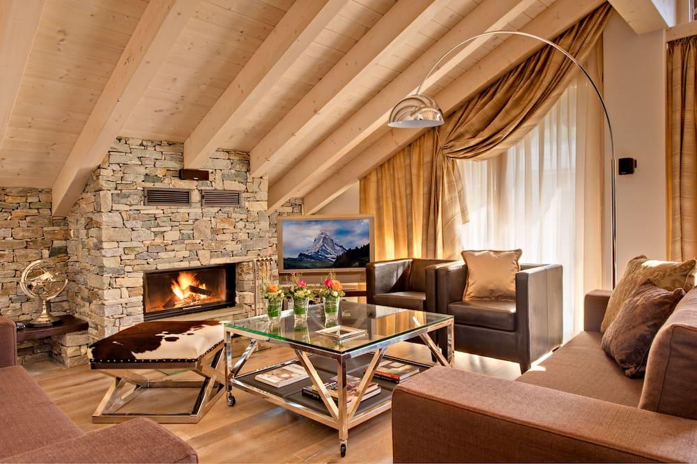 Penthouse Apartment Matterhorn View - Living Area