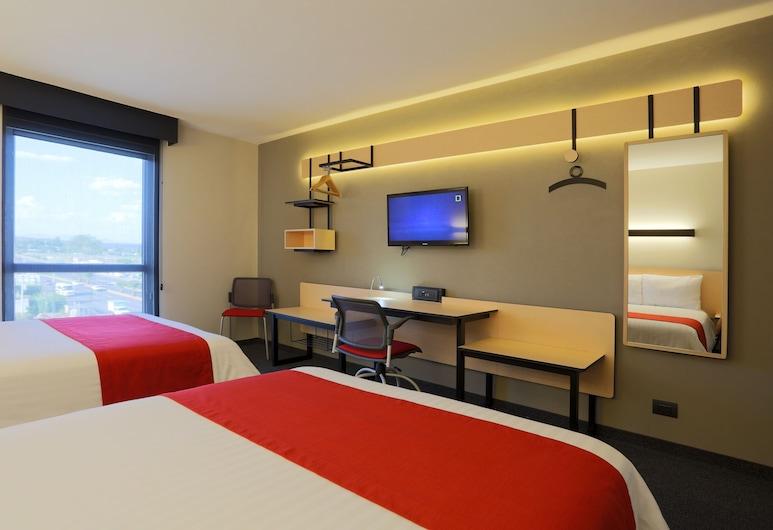 City Express Irapuato Norte, อีราปัวโต, ห้องสแตนดาร์ด, เตียงใหญ่ 2 เตียง, ห้องพัก