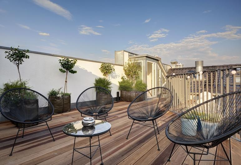 Gorki Apartments Berlin , Berlin, Loftsleilighet, 3 soverom, terrasse (1), Terrasse/veranda