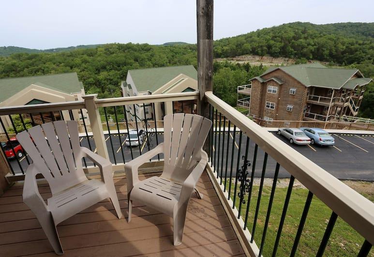 Eagle's Nest Condo Resort, Branson, Deluxe lakás, 2 hálószobával, nemdohányzó, konyha, Erkély