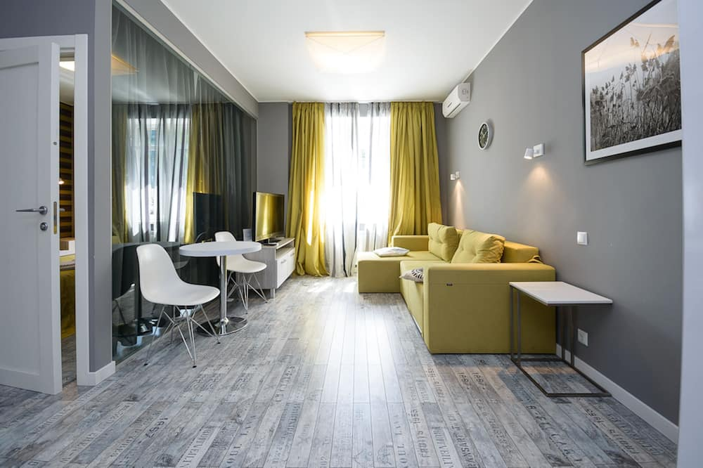 Căn hộ Deluxe, 1 phòng ngủ, Ban công - Phòng khách