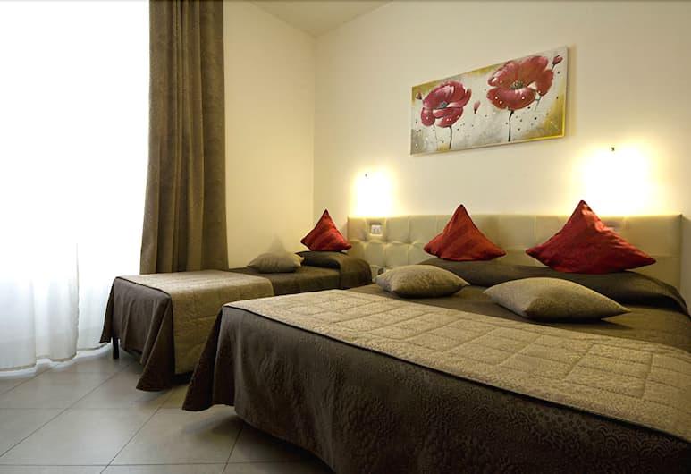 Ara Pacis Inn, Roma, Tripla Comfort, 1 camera da letto, bagno privato, vista città, Area soggiorno