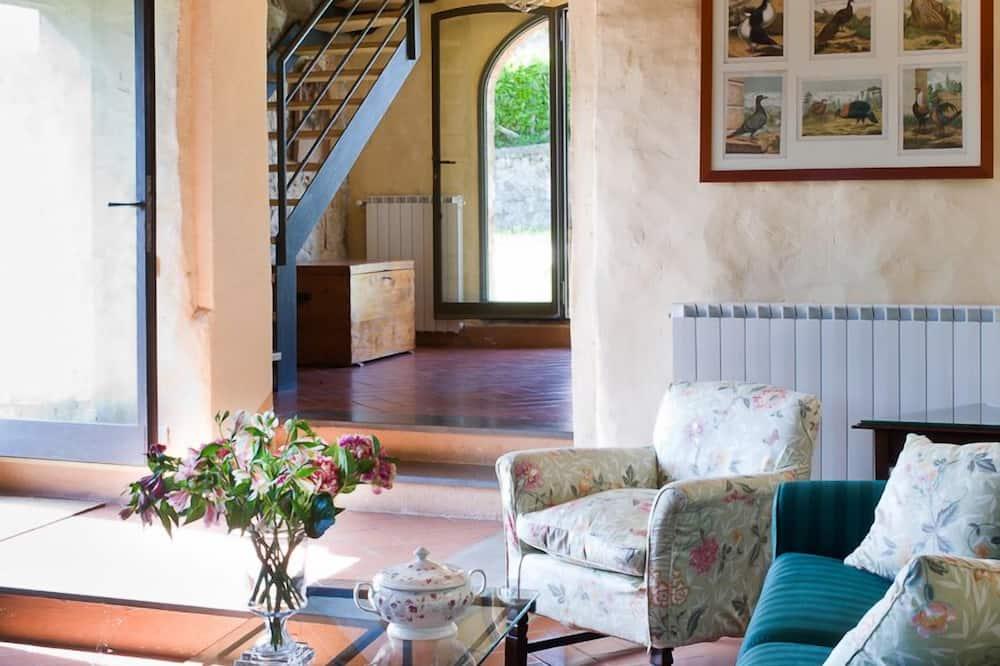 Maisonnette, 2 slaapkamers, 2 badkamers, uitzicht op heuvels - Woonkamer
