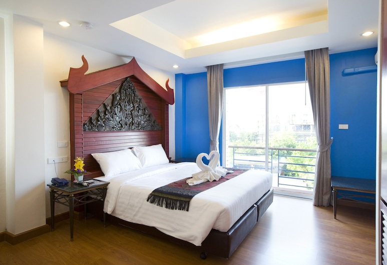 Korbua House, Bangkok, Pokój Deluxe, widok na kanał, Pokój