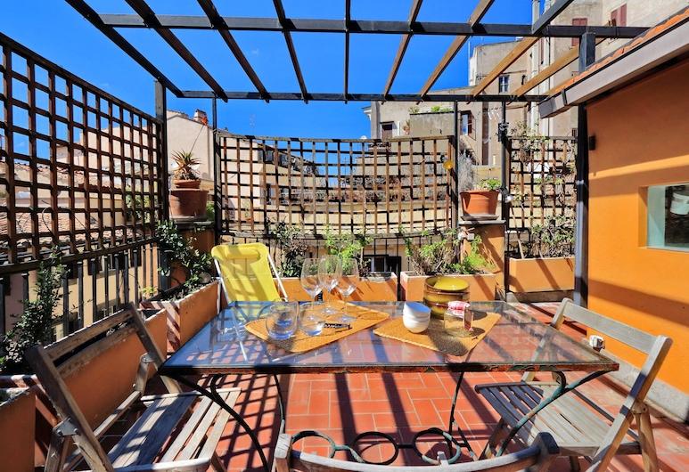羅馬獨特那佛納公寓酒店, 羅馬, 頂層客房, 1 間臥室, 露台 (via del Pavone 36), 陽台