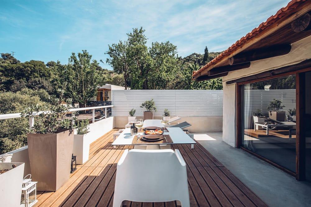 Departamento, balcón, vista a la montaña - Terraza o patio