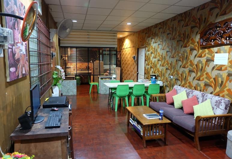 Decor do hostel, Bangkok, Zitruimte lobby