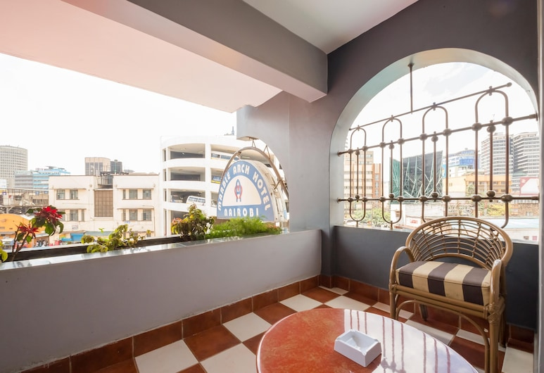 Marble Arch Hotel, Nairobi, Quarto Duplo Superior, 1 cama de casal, Varanda