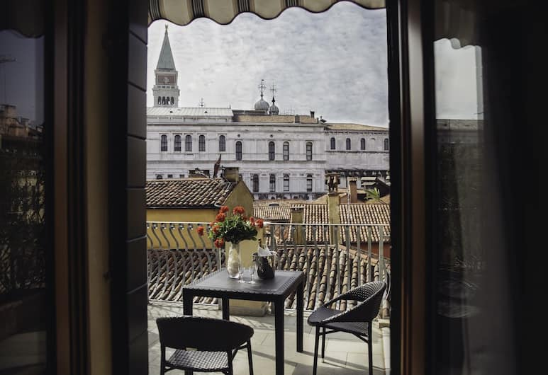 Hotel Antigo Trovatore, Veneetsia, Superior kahetuba, terrass, vaade linnale, Terrass