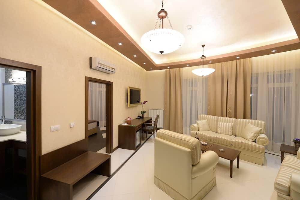 Dzīvokļnumurs ar papildu ērtībām, divas guļamistabas - Dzīvojamā zona
