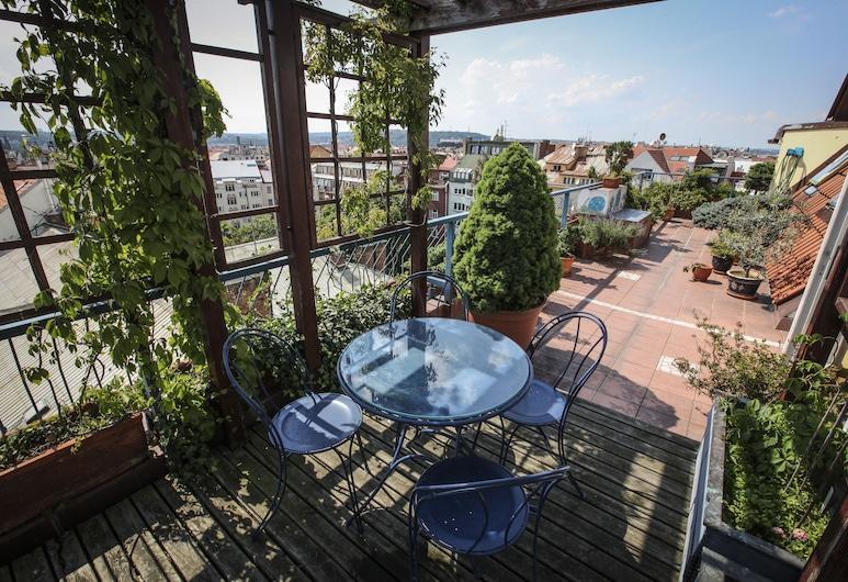 Hotel Orion, Praga, Departamento exclusivo, 2 habitaciones, terraza, vista a la ciudad, Terraza o patio