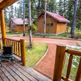 Premier kunyhó, 2 hálószobával, kilátással a hegyre, udvari - Erkély