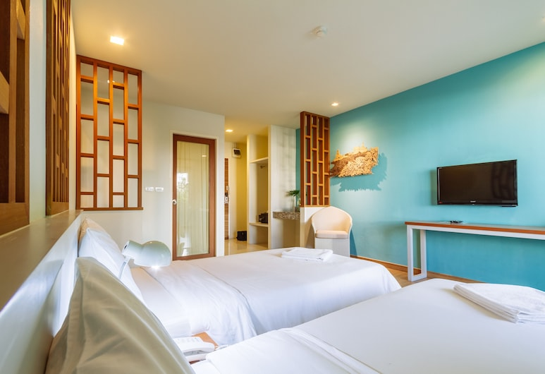 Siamaze Hostel, Bangkok, Deluxe Twin Private Ensuite, Kamer