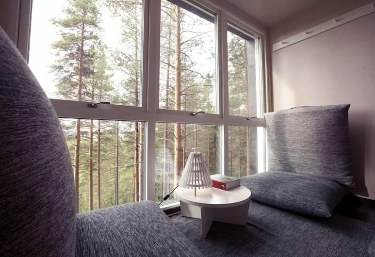 Tree Hotel, Harads, The Cabin, Vistas de la habitación