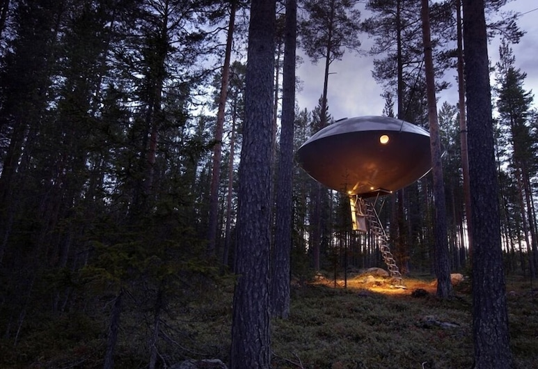 Tree Hotel, Harads, The UFO, Guest Room