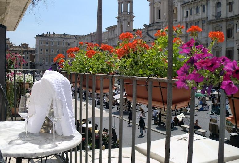 羅馬家庭套房酒店, 羅馬, 高級公寓, 1 間臥室, 景觀 (Navona - P.za Navona, 71), 陽台