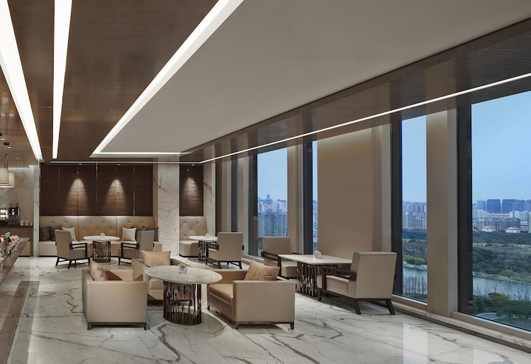 Shanghai Marriott Hotel Parkview, Shanghai, Executive-rum - 1 kingsize-säng, Hotellbar