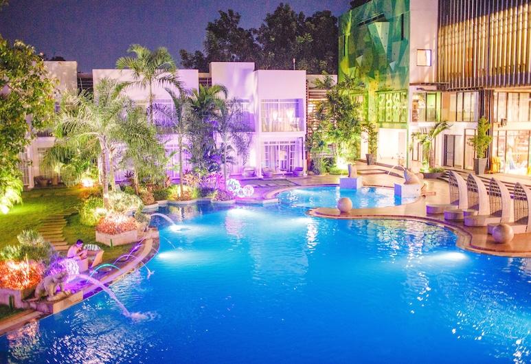 Aziza Paradise Hotel, Puerto Princesa, Pokoj Superior se dvěma jednolůžky, Venkovní bazén