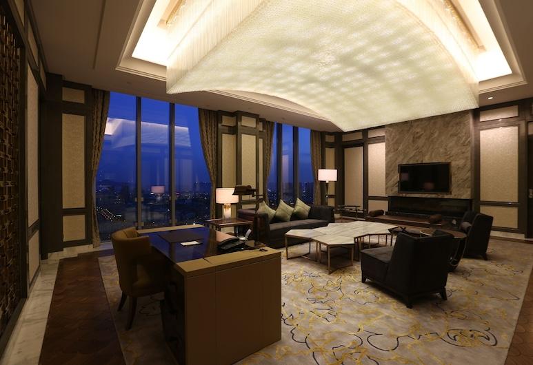 Sheraton Qingdao Licang Hotel, Qingdao, Suite Klub, 1 Tempat Tidur King, akses business lounge, Kamar Tamu