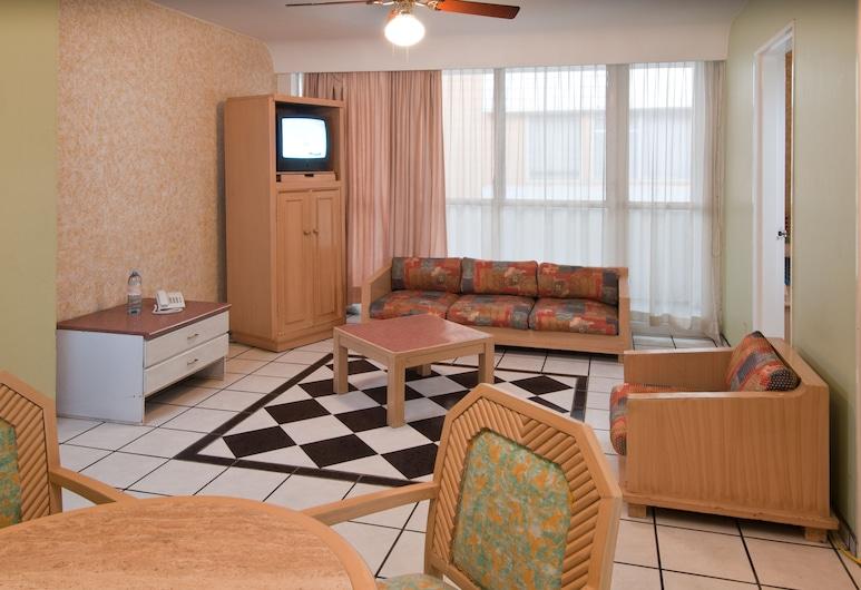 富圖拉太陽廣場套房, 瓜達拉哈拉, 開放式套房, 2 張標準雙人床, 客廳