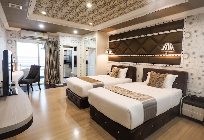 KTK Royal Residence, Pattaya, Royal Deluxe Studio Twin Bed, Phòng