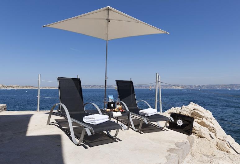 C2 hôtel, Marseille, Paplūdimys