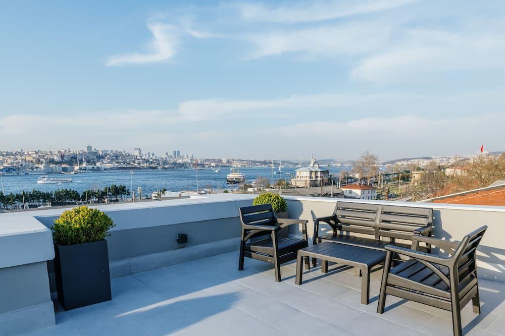 חדר דה-לוקס זוגי או טווין, טרסה, נוף לים - נוף מהמרפסת