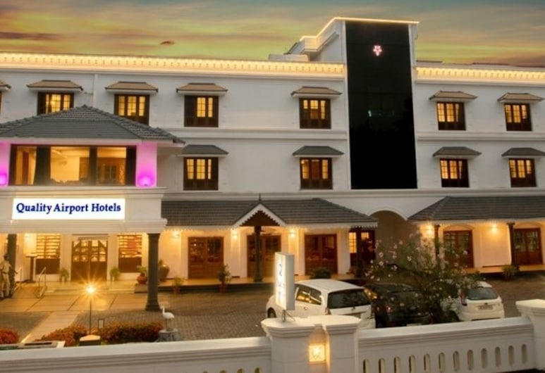 Quality Airport Hotel, Alwaye, Hotel Front – Evening/Night
